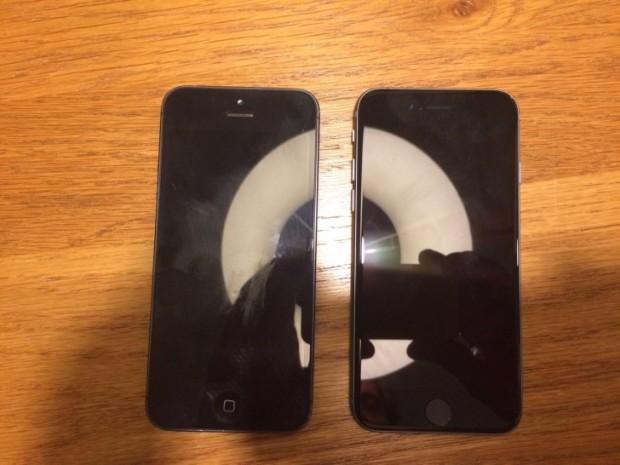 iPhone 5se (kanan), bersanding dengan iPhone 5, sumber: onemorething.nl
