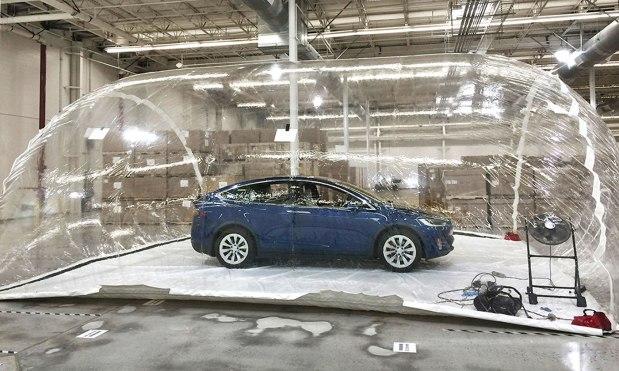Kondisi test sistem filtrasi Tesla - engadget.com