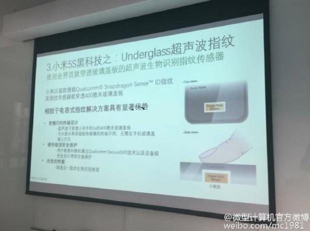 Slide presentasi Xiaomi Mi 5s - weibo.com