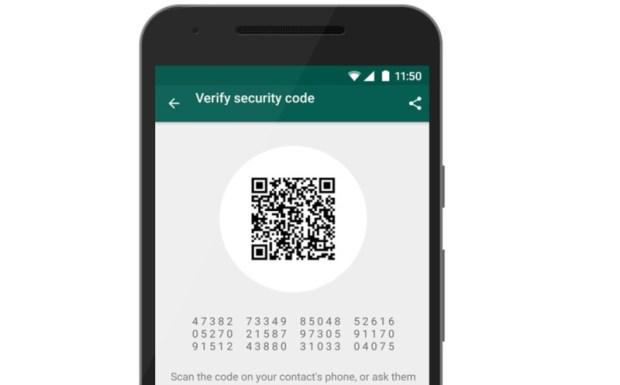Kode keamanan yang dapat dibandingkan dengan rekan chat