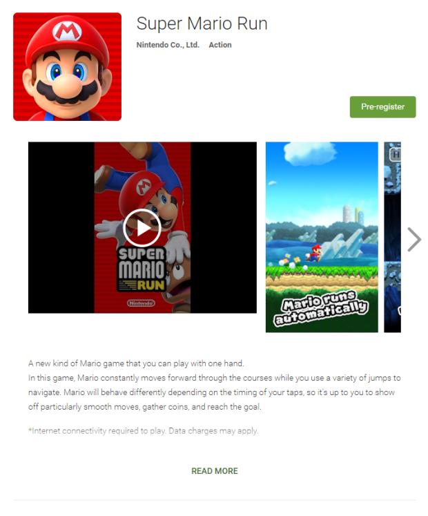 Aplikasi Super Mario Run resmi di Google Play, masih berstatus Pre-register